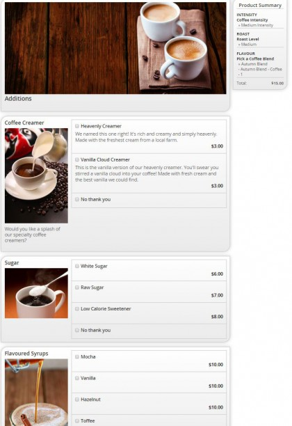 Coffee Configurator